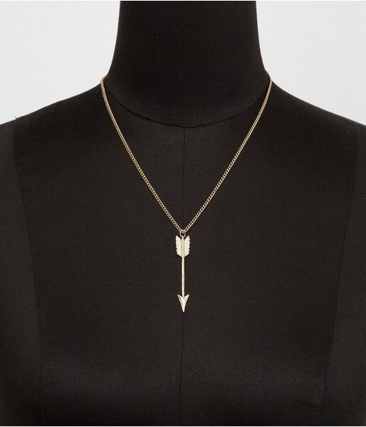 Express Vertical Arrow Pendant Necklace