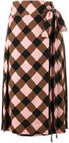 Marni checked wrap skirt - women - Spandex/Elastane/Viscose - 38