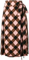 Marni checked wrap skirt - women - Viscose/Spandex/Elastane - 36