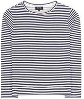 A.P.C. Striped cotton sweatshirt