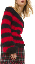 Michael Kors Rugby Striped Off-the-Shoulder Sweater