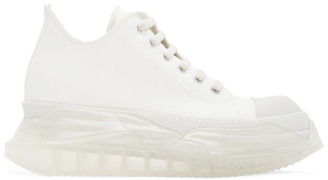 Rick Owens White Abstract Sneakers