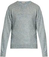 Massimo Alba J. Pierre Crew-neck Linen-blend Sweater