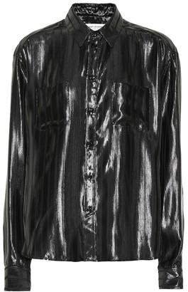 Saint Laurent Silk-blend lame shirt