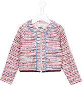 Karl Lagerfeld bouclé knit jacket - kids - Cotton/Polyester/Wool/metal - 2 yrs