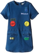 Stella McCartney Maude Denim Dress with Badges Girl's Dress