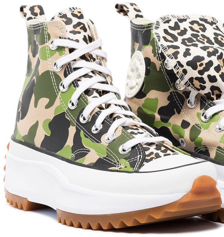 Thumbnail for your product : Converse camouflage Run Star Hike high-top sneakers