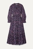 Isabel Marant étoile Isabel Marant Etoile - Likoya Ruffled Floral-print Cotton-voile Maxi Dress - Blue