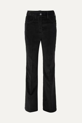 Prada Cotton-corduroy Wide-leg Pants - Black