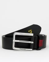 Farah Luca Leather Belt - Black
