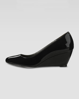 Cole Haan Air Lainey Patent Low Wedge Pump, Black
