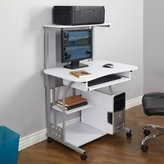 Fuselier Computer Desk with Hutch Symple Stuff Color: White