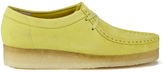 Clarks Women's Wallabee Shoes Pale Lime