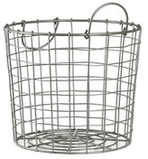Room Essentials Silver Wire Round Basket Small