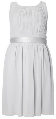 Dorothy Perkins Womens **Showcase Petite Dove Grey Beth Prom Dress, Grey