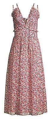Robert Rodriguez Women's Cayana Pleated Midi Dress - Size 0