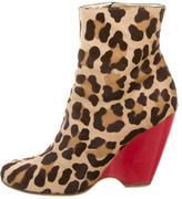 Giuseppe Zanotti Leopard Print Wedge Ankle Boots