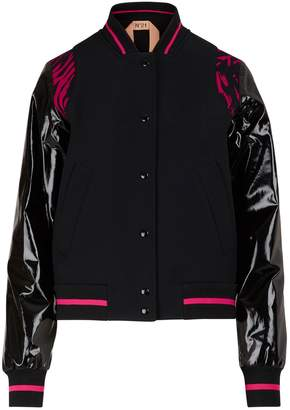 N°21 N 21 Bomber jacket with waxed-effect sleeves