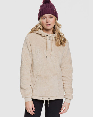 Roxy Womens Pluma Sherpa Half-Zip Sherpa Hoodie