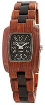 Diane von Furstenberg Tense Two Toned Dark/Light Sandalwood Hypoallergenic Wood Watch Women's M8102SD
