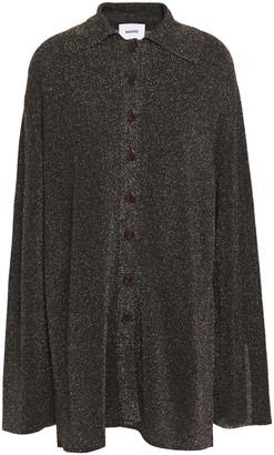 Nanushka Metallic Stretch-knit Shirt