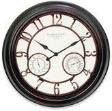 23.5-Inch Round Indoor/Outdoor Wall Clock in Bronze