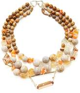 Alexis Bittar Women's Elements Triple Strand Geometric Beaded Bib Collar Necklace
