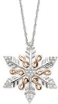 JCPenney FINE JEWELRY Infinite Promise 1/0 CT. T.W. Diamond Snowflake Pendant Necklace