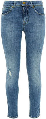 Victoria Victoria Beckham Distressed Mid-rise Skinny Jeans