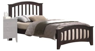 ACME Furniture ACME San Marino Twin Panel Bed with Slat System in Dark Walnut, Multiple Sizes