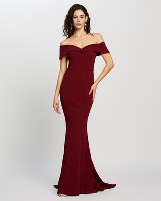 Bariano Naida Off-Shoulder Gown