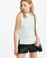 Express mock neck step hem sleeveless sweater