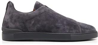 Ermenegildo Zegna Suede Slip On Sneakers