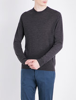 Paul Smith Mens Charcoal Knitted Classic Sweater