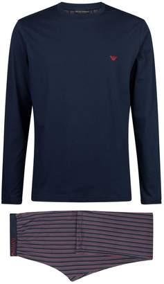 Emporio Armani Long-Sleeved Stripe Pyjama Set
