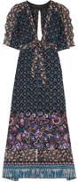 Anna Sui Printed Silk-chiffon Robe