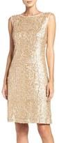 Donna Ricco Women's Sequin Mesh Dress