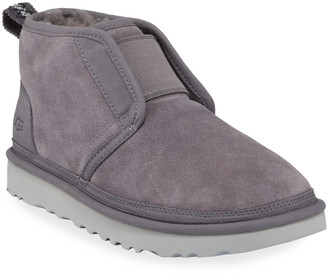 UGG Men's Neumel Flex Suede Booties w/ Wool Lining