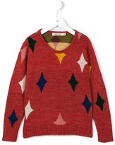 Bobo Choses diamond pattern jumper