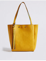 M&S Collection 3 Compartment Tassel Tote Bag
