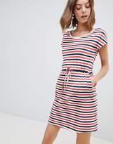Vero Moda Stripe Jersey Dress With Tie Waist