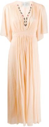 Forte Forte V-neck embroidered beach dress