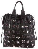 Lanvin Embellished Leather Tote
