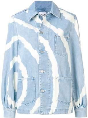 Ganni bleached denim jacket
