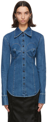 Kwaidan Editions Blue Denim Bustier Shirt