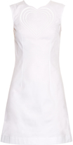 Christopher Kane Love Heart-embroidered cotton-drill dress