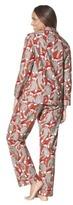 Nick & Nora Women's Pajama Coat Set - Santa Monkey
