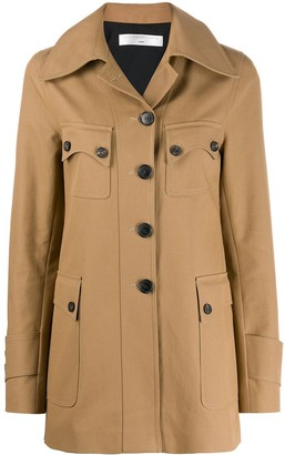 Victoria Beckham Pocket Detail Single Breasted Coat