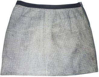Sandro Grey Leather Skirt for Women