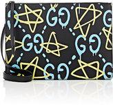 Gucci Men's GucciGhost-Print Crossbody Messenger Bag-BLACK